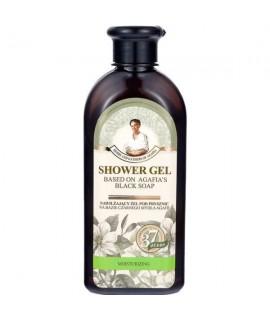 Babushka Agafia hidratantni gel za tuširanje na bazi crnog sapuna