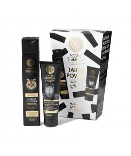 Taiga Power muški poklon set šampon za tijelo i kosu, krema za lice i ruke